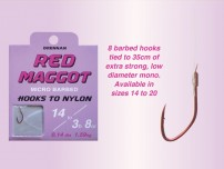 DRENNAN RED MAGGOT MICRO BARBED