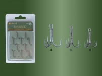 DRENNAN E-SOX TREBLE PIKE HOOKS EXTRA STRONG BARBED SIZE 6